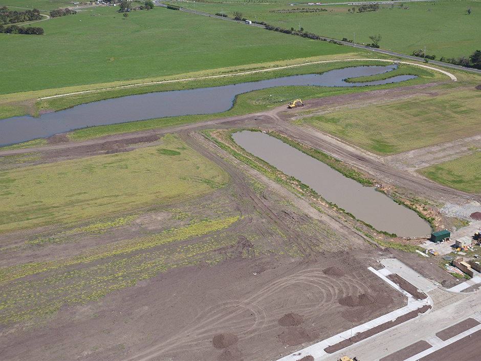 Waterways Wetlands Aerial Progress