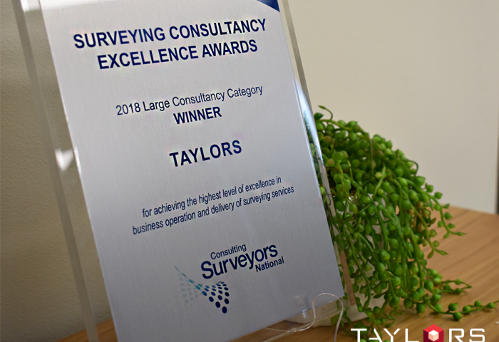 Taylors take out top honours at National Surveying Consultancy Awards 2018