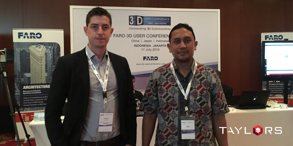 Taylors Jakarta representative, Thomas Smid networking with like-minded professionals