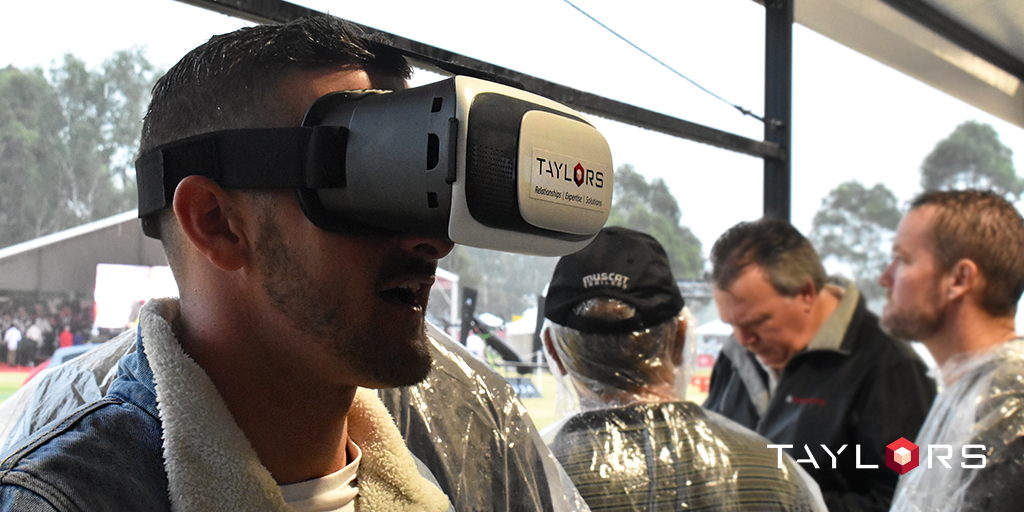 Grand Prix race goers had the chance to immerse themselves in Taylors VR experience