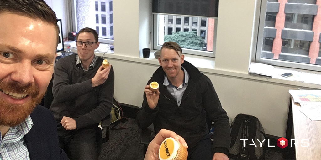 Our Perth team asking R U OK with cupcakes.